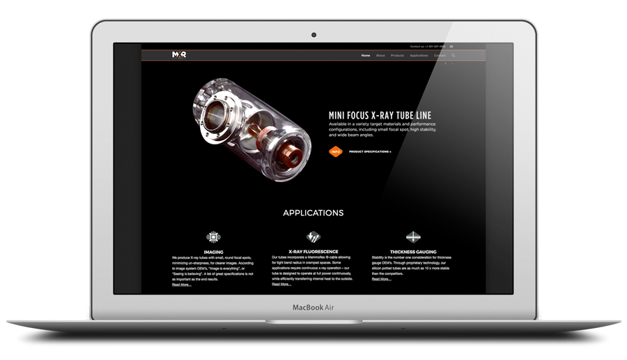 Client- MicroXray- Web Design, Print Layout and Photography