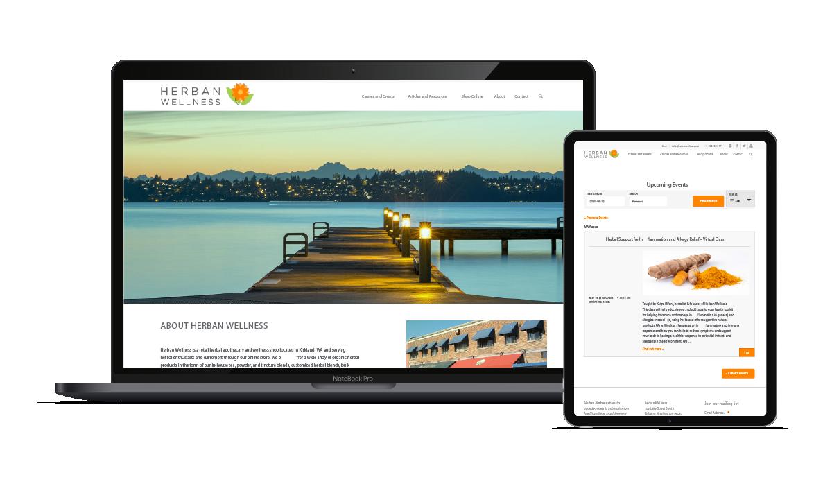 Web Design and E-commerce Development | Herban Wellness, Kirkland, WA