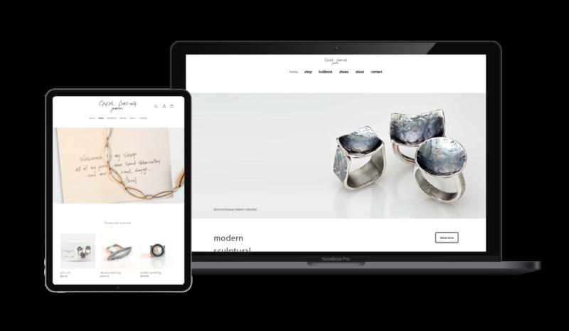 Web Design and E-commerce Development | Carol Greiwe Jeweler, Portland, OR