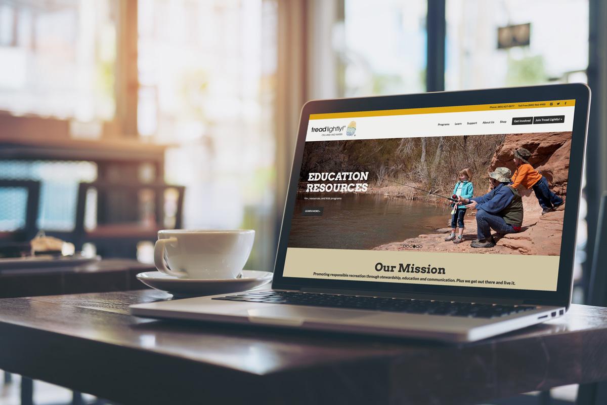 Website Design and Development for Nonprofits | TreadLightly!, Utah