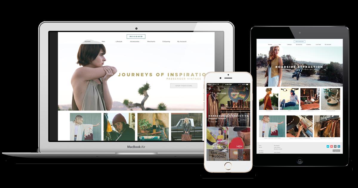 Reissued.com - User Interface, Web Design, Branding