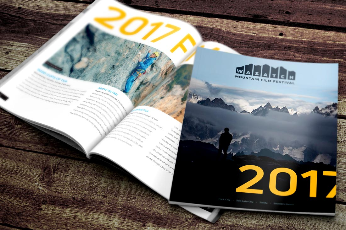 Wasatch Mountain Film Festival 2017 Magazine Design and Production