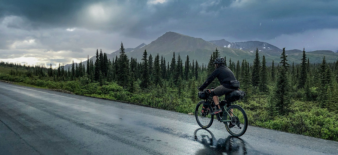 Bikepacking in Alaska on our days off