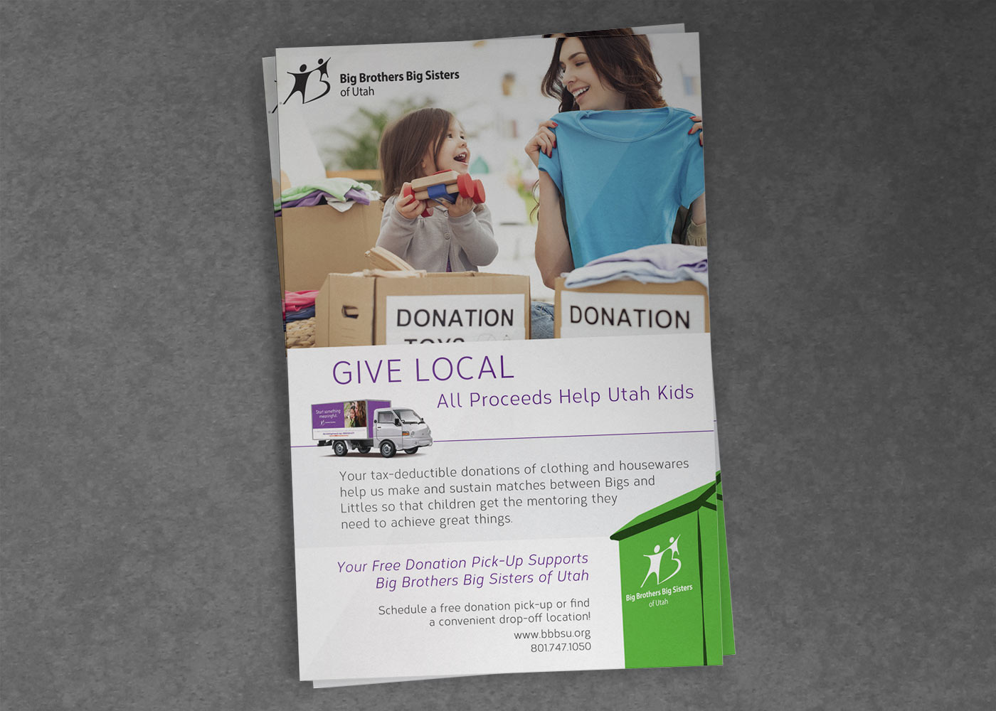 Print collateral and advertising for nonprofits