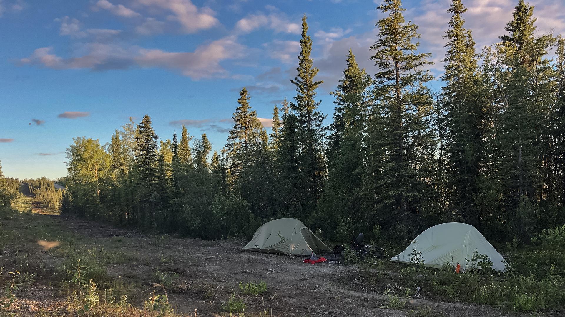 Bikepacking Alaska | Roadside Camping